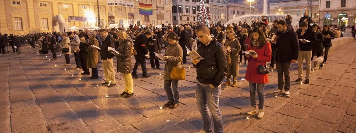 "Manifestazione ""sentinelle in piedi"" a Pontassieve"