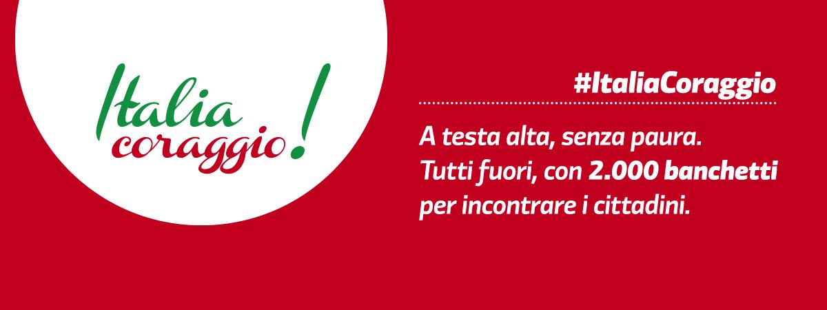 Italia coraggio! 2.000 banchetti in piazza
