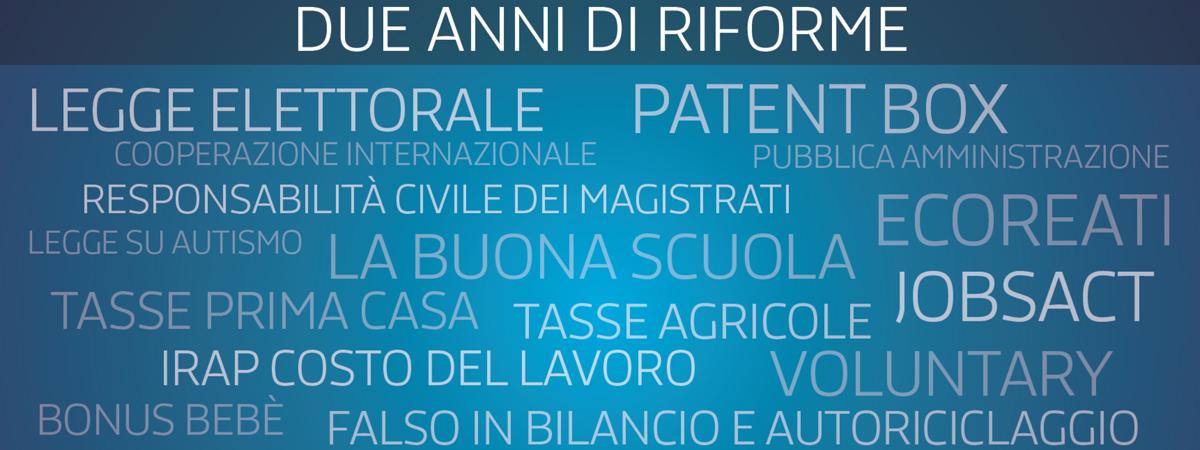 24 mesi di Governo Renzi, 2 anni di Pd alla guida del Paese